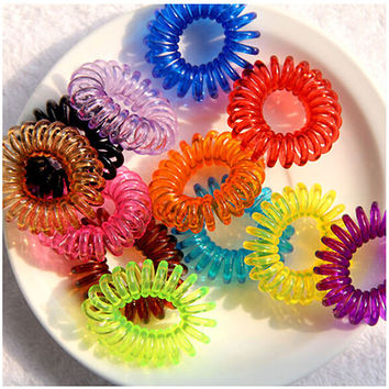Bluelans 10Pcs Girls Elastic Rubber Hair Ties Band Rope Ponytail Holder Bracelets Scrunchie