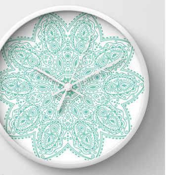 Mandala Clock Design Customizable Graphics On Your Wall Clock