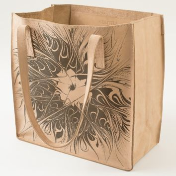 Flourish abstract and modern Fractal Art Tote