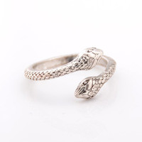 Solid Color Snake Shape Ring