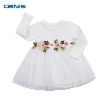 Cute Baby Girl Dress Cotton Children Kids Baby Girls Dresses One Piece Baby Autumn Clothing Casual Wear Clothes Girl