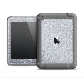 The Silver Sparkly Glitter Ultra Metallic Apple iPad Air LifeProof Fre Case Skin Set