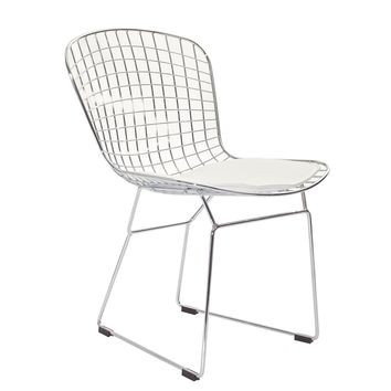 Diamond Side Chair, White
