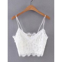 Lace Crop Cami Top