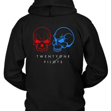Twenty One Pilots Skull Guns For Hands Illustrations Hoodie Two Sided
