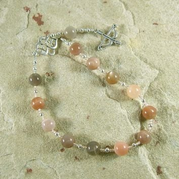 Artemis Pocket Prayer Beads in Moonstone: Greek Goddess of  the Wild, Protector of Young Women