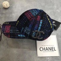 Chanel Fashion Crochet Embroidered Baseball Cap Hat G