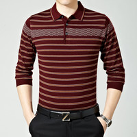 Stripes Knit Tops Pullover Sweater Men Long Sleeve T-shirts [6544636931]