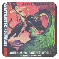 Queen of the Panther World Square Paper Coaster
