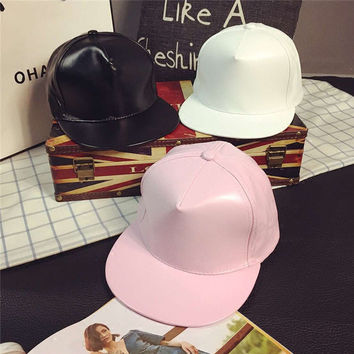Ladies Hats Soft Leather Hip-hop Summer Baseball Cap [10136599815]