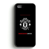manchester united black iPhone 4s iPhone 5s iPhone 5c iPhone SE iPhone 6|6s iPhone 6|6s Plus Case