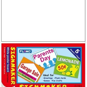 5 Sheet White Sign Maker - CASE OF 48