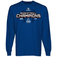 Georgia State Panthers 2014 Sun Belt Men's Regular Season Basketball Champions Long Sleeve T-Shirt - Royal Blue