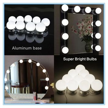 TS-ML03A Super bright max 20W High Quality led vanity light aluminum Vanity mirror lights with Dimmer and Power adapter
