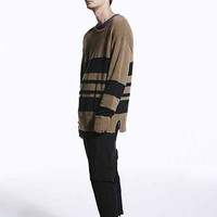 Your Neighbors Boucle Stripe Pullover Sweater-