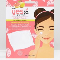 Yes To Grapefruit Brightening Vitamin C Glow Boosting Sleeping Mask at asos.com