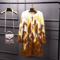 Shaggy Faux Fox Fur Coat