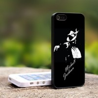 michael jackson spirit - For iPhone 4,4S Black Case Cover
