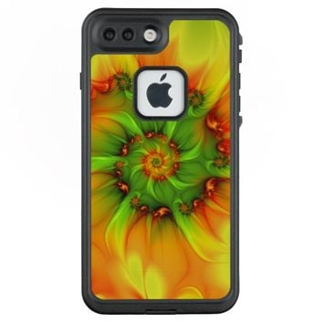 Hot Summer Green Orange Abstract Colorful Fractal LifeProof® FRĒ® iPhone 7 Plus Case
