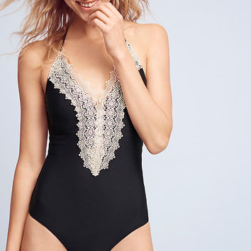 Lace-Front One-Piece