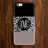 Leopard Skin Pattern Monogram iPhone 6s Plus 5S 5 5C 4 Protective Case 943