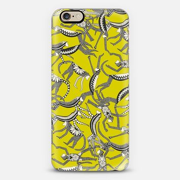 monkey chartreuse iPhone 6s case by Sharon Turner | Casetify