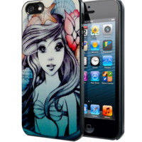 Ariel The Little Mermaid Sketch2 Samsung Galaxy S3 S4 S5 Note 3 , iPhone 4(S) 5(S) 5c 6 Plus , iPod 4 5 case