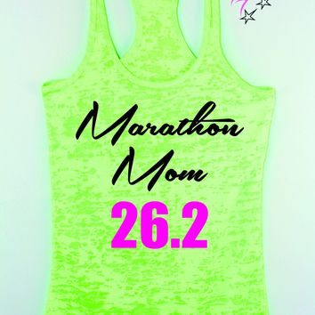 Marathon Mom 26.2 Full Marathon Running Tank Top , Women's race tank top
