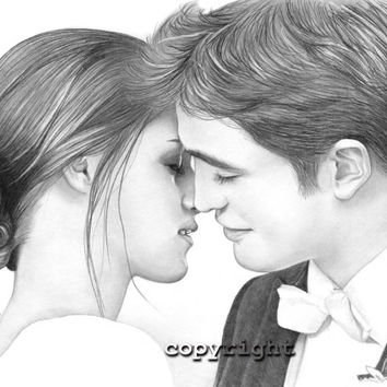 Bella and Edward's Wedding from Breaking Dawn, Portrait 8x10 Fine Art Print by Wendy Hogue Berry
