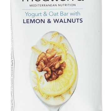 Mediterra Gluten-Free Yogurt and Oat Nutritional Bars, Lemon & Walnuts, 12 Count