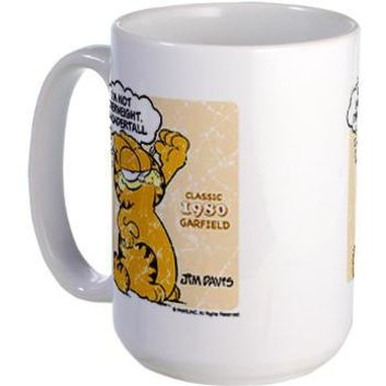 "Garfield ""I'm Undertall"" Large Mug> I'm Not Overweight, I'm Undertall> THE GARFIELD STUFF STORE"