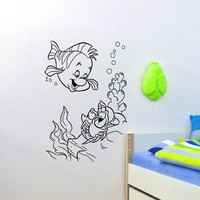 Wall Decal Vinyl Sticker Cartoon The Little Mermaid Room Nursery Decor Sb277
