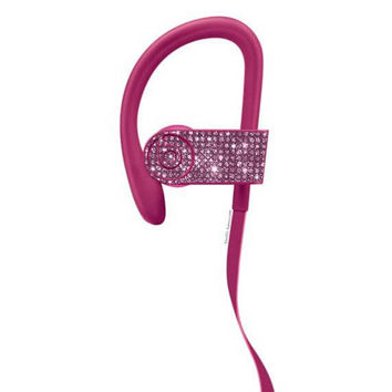 PowerBeats 3 Wireless,Custom Beats by Dre, Crystal Beats by Dre, Bling Beats, Bling custom earphones, Beats by Dre blue,Beats Headphones