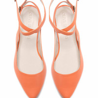 Womens Peach Pointed Flat Closed Sandal // US sizes 5-10.5