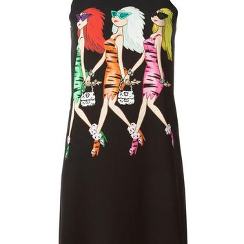 DCCKIN3 Moschino Cheap & Chic three ladies print dress