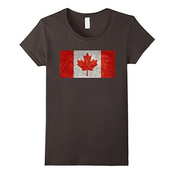 Canadian flag in grunge T-Shirt