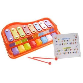 2 In 1 Xylophone/Piano with Music Sheet Songbook