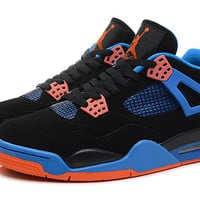 Air Jordan 4 Retro Cavs Black Blue Orange 308497-027