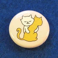 $2.00 Kitty Hugs Button by sugarcookie on Etsy