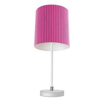 Hot Pink and Black Stripes Table Lamp