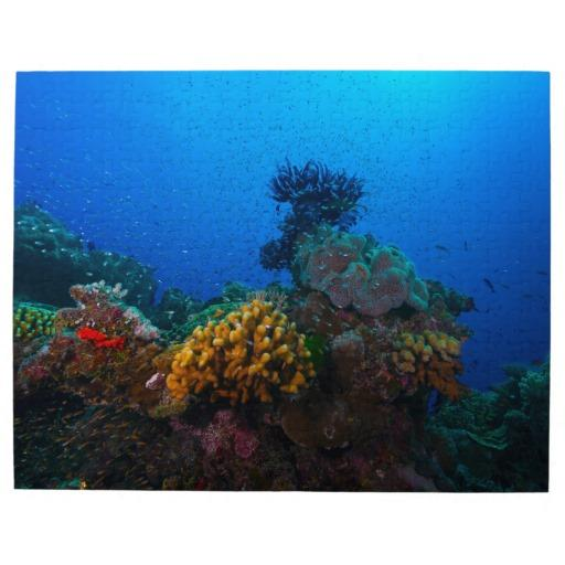 Tropical Fish And Coral Reef Jigsaw From Zazzle