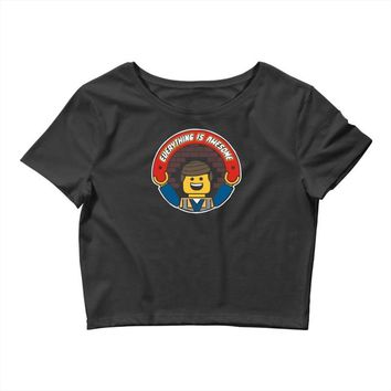 everything is awesome   mens funny lego Crop Top