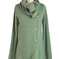 ModCloth Rustic Mid-length Long Sleeve Satisfied Speechwriter Cardigan