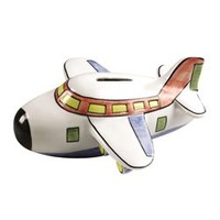 Airplane Coin Piggy Bank by Andrea