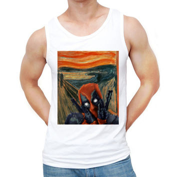 2017 Newest Deadpool Men Tank tops Fashion Deadscream The Cookies Munch Printed Vest Summer Hipster Punk Tee