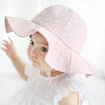 DCCKL3Z Moeble Kids Pink Sun Hat Summer Cotton Bucket Hat Toddler & Children Girls Brim Beach Hat With Wide Brim 1pc H835