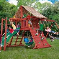 Gorilla Playsets Sun Climber II Wooden Swing Set