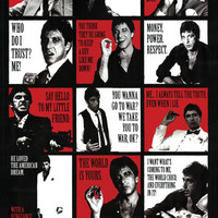 Scarface Collage Poster