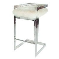 Worlds Away Hearst Linear Bar Stool - Nickel | New Furniture | What's New! | Candelabra, Inc.