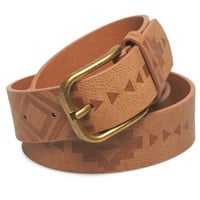 Embossed Tribal Print Jean Belt | Wet Seal
